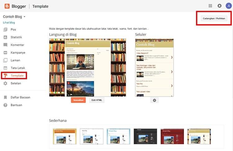 Membuat cadangan template Blogger