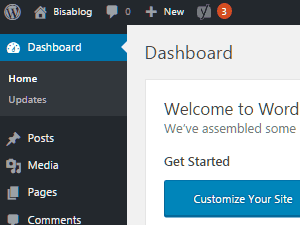 Menu Dashboard WordPress
