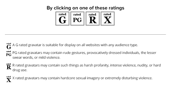 pilih-rating-gravatar