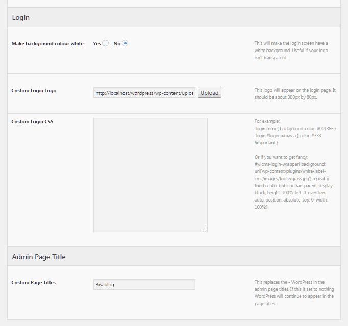 Mengganti logo WordPress pada laman login dengan plugin White Label CMS