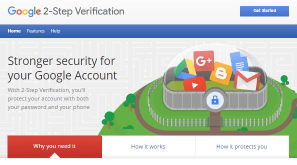 verifikasi dua langkah dari google dengan menggunakan nomor telepon sebagai langkah pengamanan ekstra