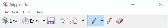 editor gambar (image editor) bawaan snipping tools