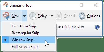 Berbagai mode pengambilan gambar menggunakan Snipping Tools pada Windows