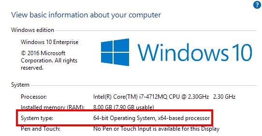 Memeriksa versi OS 32bit atau 64bit pada Windows