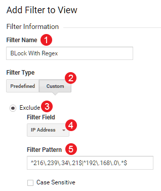 Filter Google Analytics dengan regular expression (RegEx)