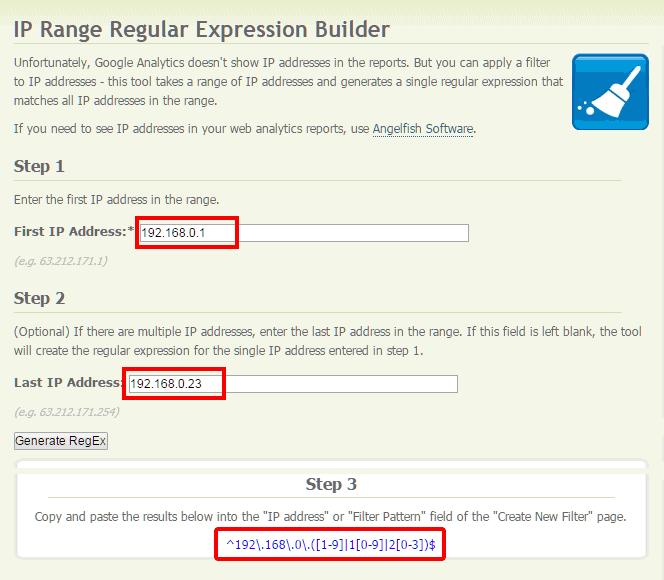 Menulis IP address (alamat IP) dengan RegEx menggunakan IP Range Regular Expression Builder