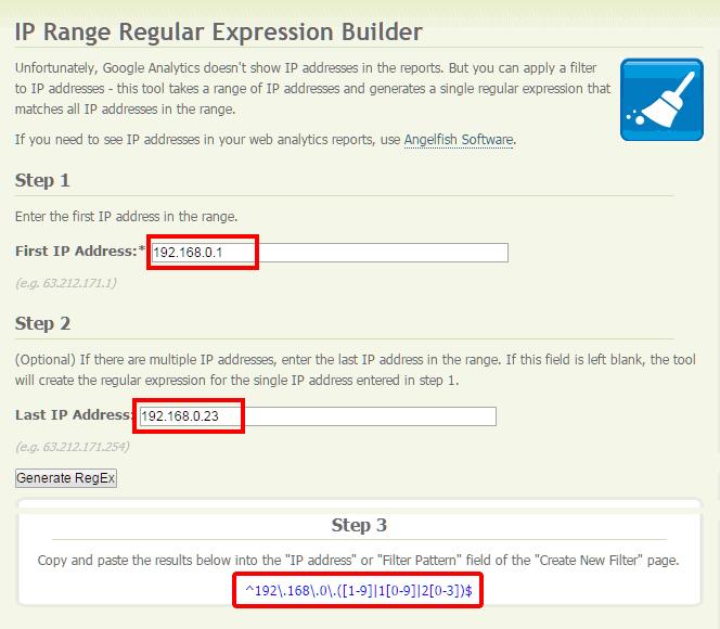 Menulis IP address (alamat IP) dengan RegEx menggunakan IP Range Regular Expression Builder