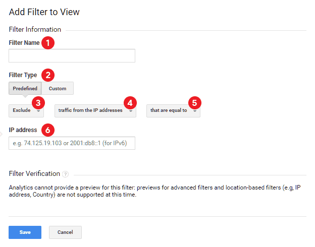 Tambah filter baru pada Google Analytics untuk memblok IP address tertentu