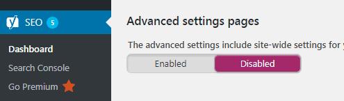 Mengaktifkan menu advanced setting page pada plugin Yoast SEO