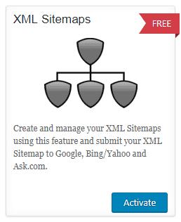 Aktifkan modul XML Sitemaps pada plugin All in One SEO Pack