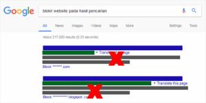 Blokir Website dari Hasil Pencarian Google