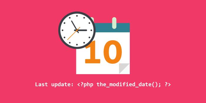 Cara Menampilkan Tanggal Update Terakhir pada Pos WordPress