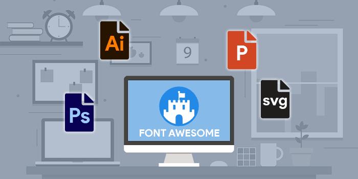 Cara Menggunakan Font Awesome pada Aplikasi Desktop