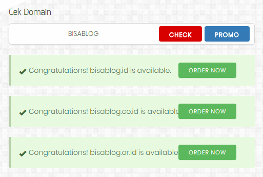 Cek ketersediaan nama domain melalui PANDI.ID