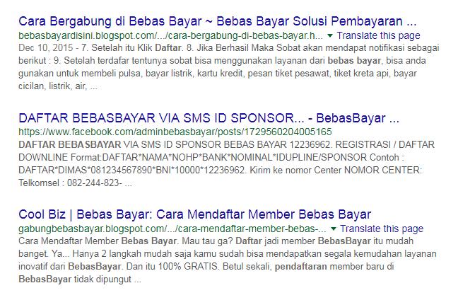 Contoh blog dan landing page khusus BebasBayar.
