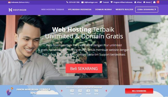 Web hosting Indonesia Hostinger