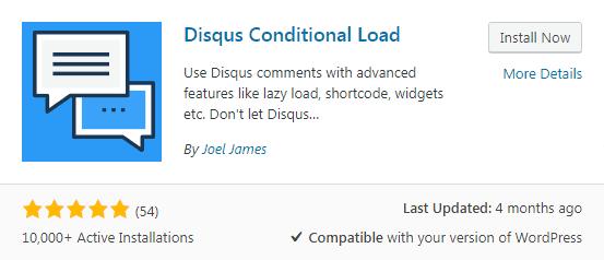 Plugin Disqus Conditional Load