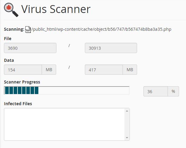 Fitur Malware/Virus Scanner yang disediakan gratis oleh beberapa hosting pada cPanel.