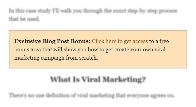 Contoh <em>featured box</em> sederhana untuk menonjolkan salah satu bagian konten.