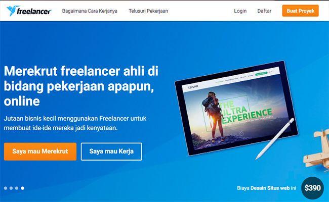 Situs freelance terbaik dan terpercaya di Indonesia Freelancer