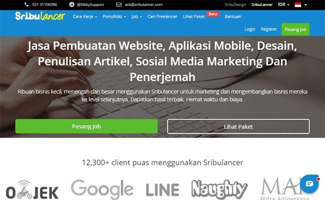 Situs freelance terbaik dan terpercaya di Indonesia Sribulancer