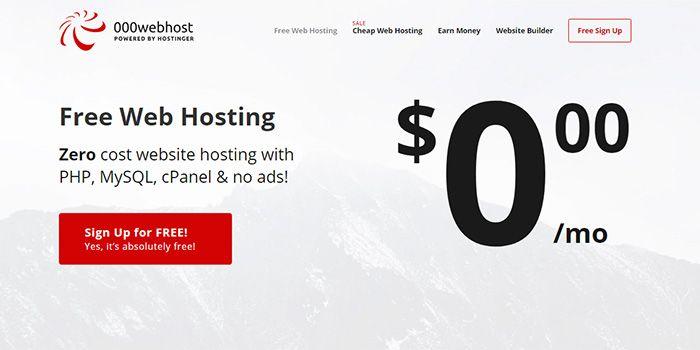 Cara daftar hosting gratis di 000webhost