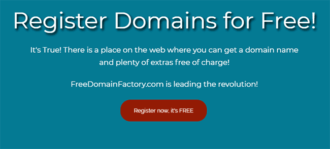 Dapatkan domain .com gratis dengan mengumpulkan dan menukarkan poin di freedomainfactory.com
