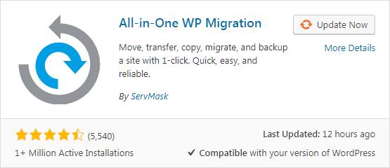 Migrasi Wordpres dari hosting ke localhost denga plugin All-in-One WP Migration