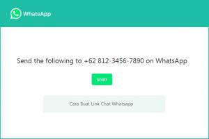 Cara Buat Link Whatsapp, Chat Langsung Bisa Auto Order