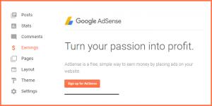 Cara Menampilkan Menu Penghasilan Adsense di Blog Blogspot