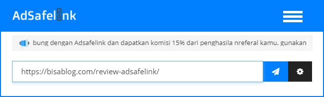 Cara buat link pendek / safelink dengan URL Shortener Adsafelink