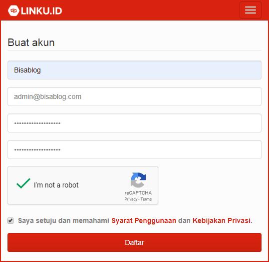 Cara daftar di Linku.id