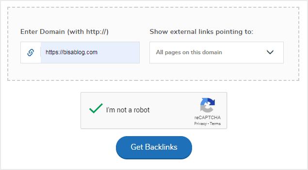 Cara mengecek backlink website dengan tools gratis dari SmallSEOTools.com