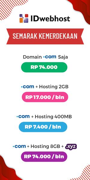 promo hosting murah IDWebhost Agustus 2019