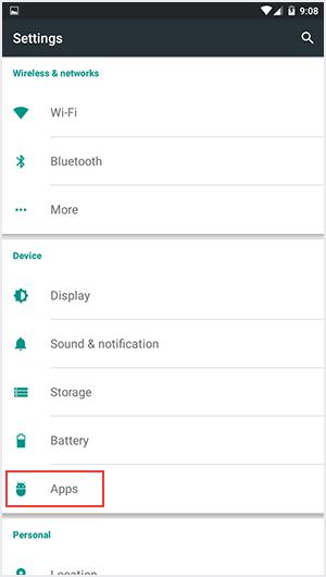 Masuk ke menu App Manager Android