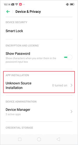 Aktifkan Unknown Source Installation agar bisa menginstal file APK di Android