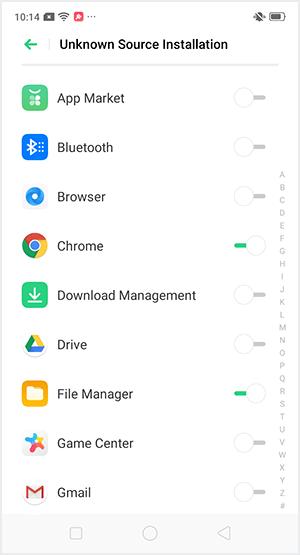 Beri permission pada aplikasi File Manager dan/atau Chrome