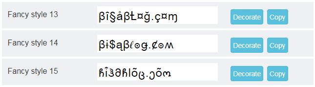 Buat tulisan unik dengan beragam font keren dengan tool Cool Fancy Text Generator