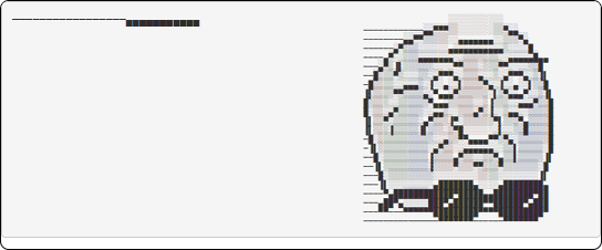 Contoh ASCII Art berupa meme yang bisa kamu salin dari situs CoolSymbol