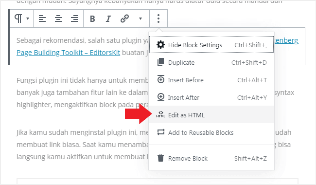 Cara membuat link nofollow di WordPress secara manual