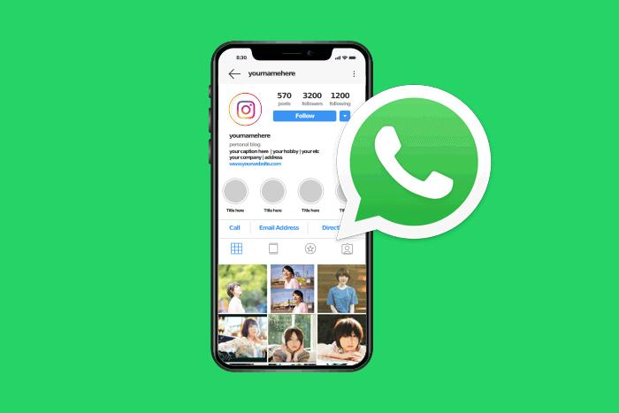 Cara membuat link whatsapp di instagram (IG)