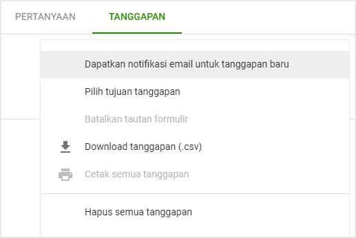 Centang opsi di atas untuk melihat respon form kontak langsung dari email