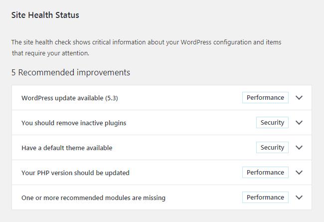 Site Health Status membantu kita melakukan maintenance website WordPress dengan mudah