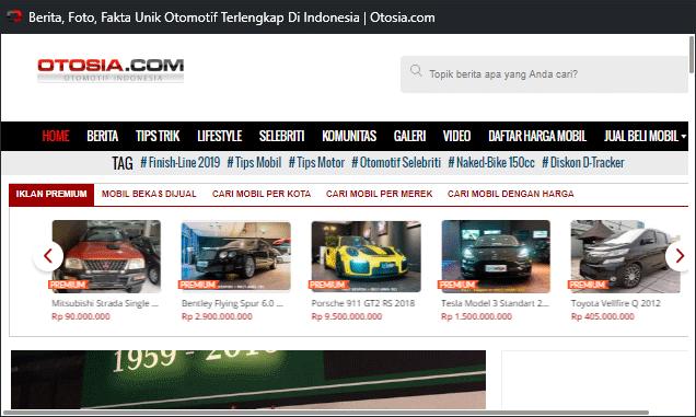 Otosia, portal berita otomotif lengkap dengan layanan jual beli mobil baru dan bekas