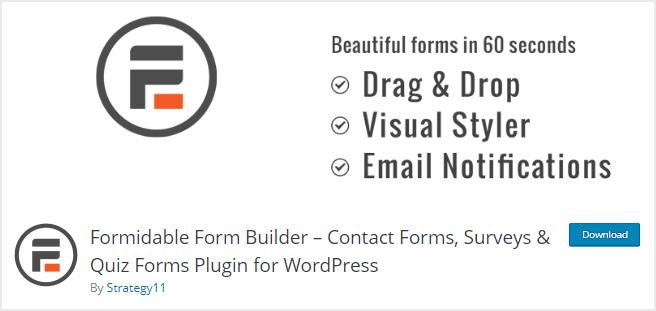Buat form kontak dengan cepat dan mudah tanpa perlu koding dengan Formidable Forms
