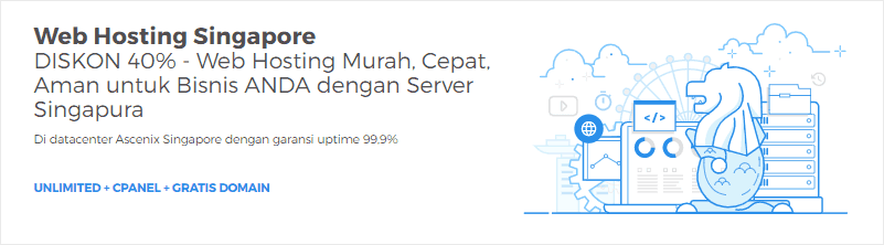 Shared hosting dengan server Singapura menjadi salah satu andalan Niagahoster