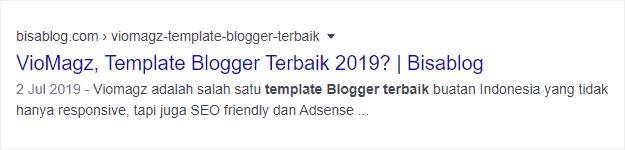 Keyword yang sesuai dengan hasil pencarian akan dibuat tebal agar link terlihat menonjol