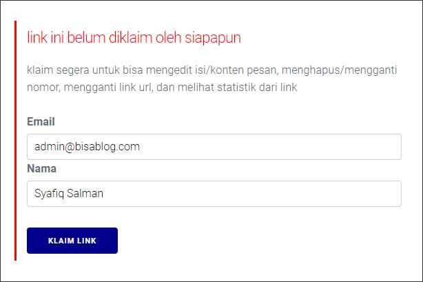Klaim link wa untuk mengedit pesan, menghapus/mengganti nomor, mengganti link url, dan melihat statistik link wa.
