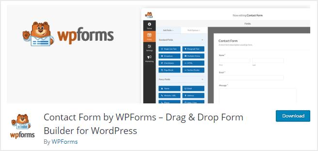 Plugin contact form WordPress terbaik dengan drag and drop builder