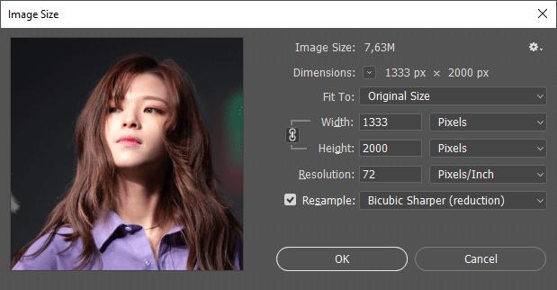 Cara memperkecil ukuran foto di Photoshop